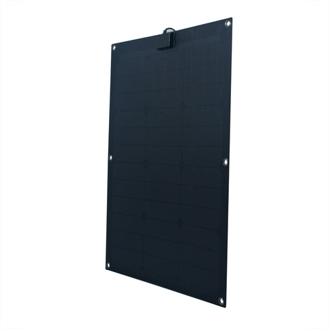 Nature Power 50-Watt Semi Flex Mono crystalline Solar Panel front right angle