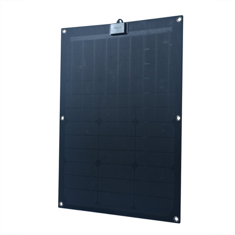 Nature Power 50-Watt Semi Flex Mono crystalline Solar Panel front right angle close up