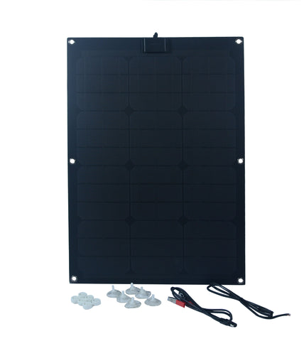 Nature Power 50-Watt Semi Flex Mono crystalline Solar Panel with all accessories and suctions cups