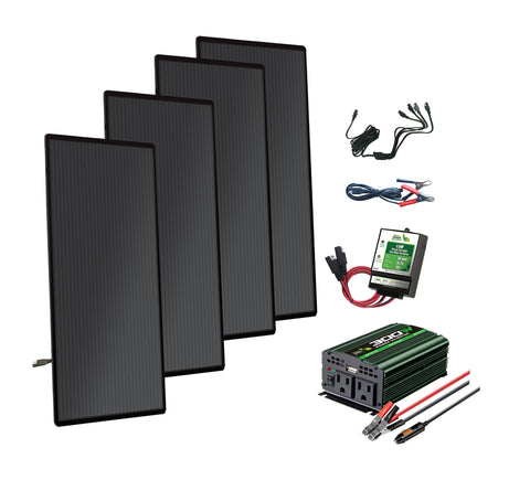 Nature Power 72 W Amorphous Solar Panel Complete Kit and Accessories
