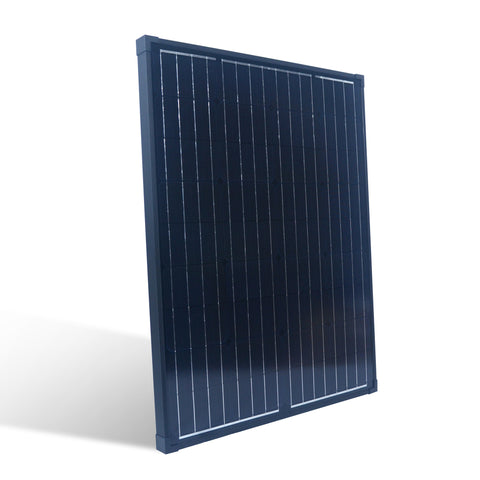 Nature Power 90W Monocrystalline Solar Panel front side angled view