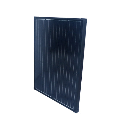 Nature Power 90W Monocrystalline Solar Panel overhead view angled