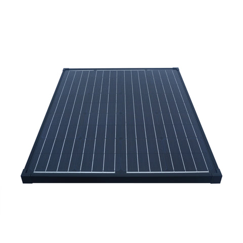 Nature Power 90W Monocrystalline Solar Panel showing aluminum and tempered glass