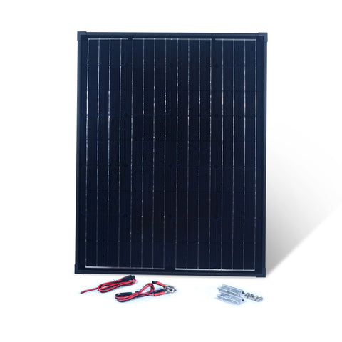 Nature Power 90W Monocrystalline Solar Panel with wires accessories and mounting brackets