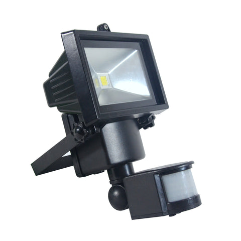 Nature Power COB Motion Activated Solar Security Light Front Angle View With Sensor