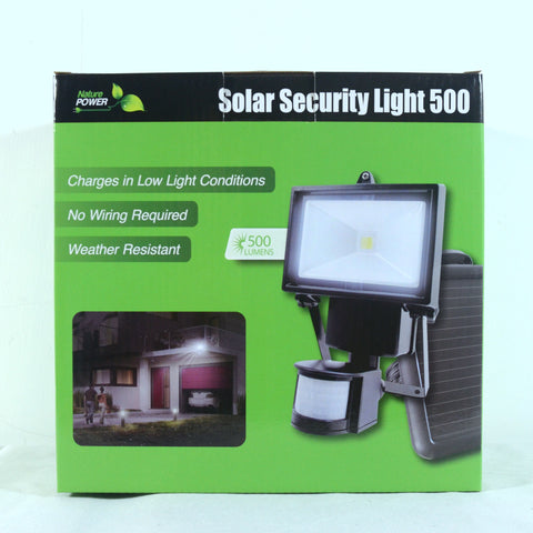 Nature Power COB Motion Activated Solar Security Light In Box Front View