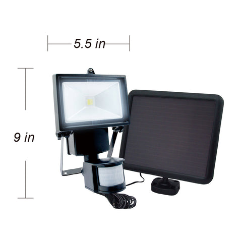 Nature Power COB Motion Activated Solar Security Light With Solar Panel and Measurements