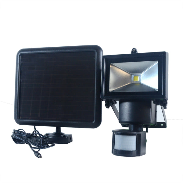 Nature Power COB Motion Activated Solar Security Light With Solar Panel and Wires