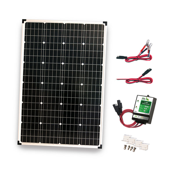 Nature Power Solar Power Kit - 110 W of Solar, 300 W Power Inverter and 11 Amp Charge Controller
