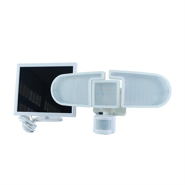 Nature Power 205 Integrated LED Light Triple Head Motion Activated Outdoor Solar Security Lights