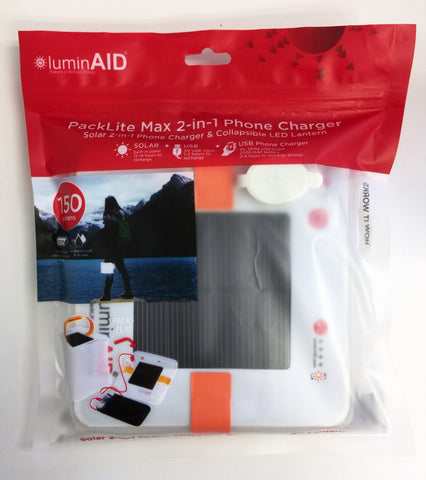 LuminAID PackLite Max 2-in-1 Inflatable Solar Phone Charger and Lantern - Solar Us Shop