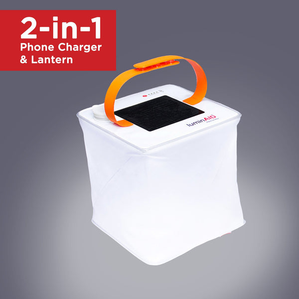 LuminAID PackLite Max 2-in-1 Inflatable Solar Phone Charger and Lantern