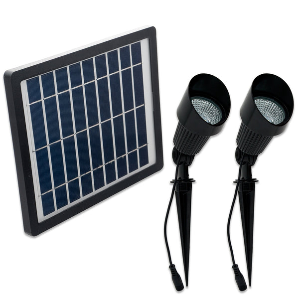 SGG-S24-CW - Cool or Warm White LED Solar Flag Pole and Spot Light - Solar Us Shop