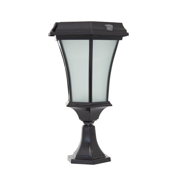 "Solar Goes Green Solar Porch Lamp 5"" Post Flat Mount"