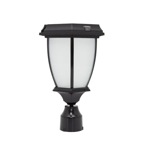 "Solar Goes Green LED Solar Porch Lamp 3"" OD Fitter"