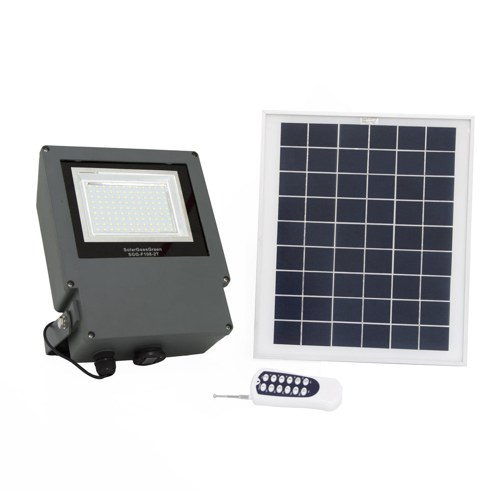Sgg f108 2t 108 led solar flood light with remote control and sgg f108 2t 108 led solar flood light with remote control and timer aloadofball Gallery