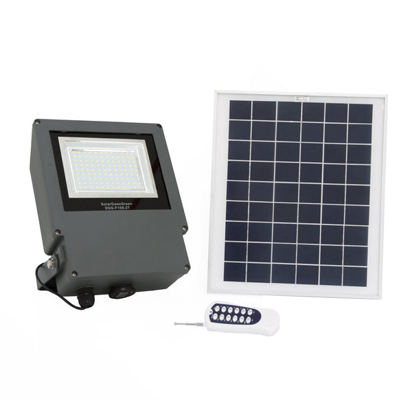 Solar Goes Green 108 LED Solar Flood Light With Remote and Solar Panel