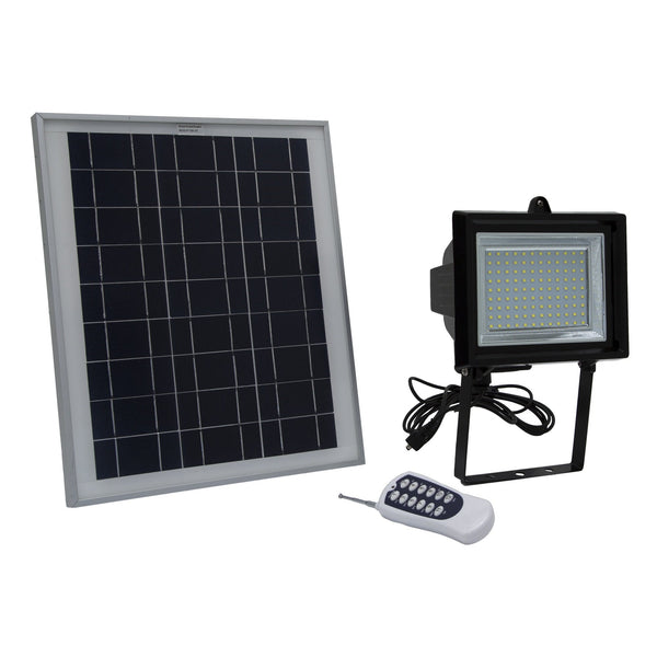 Solar Goes Green LED Solar Flood Light With Remote Control and Timer