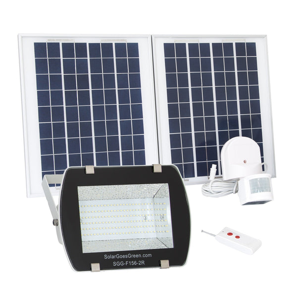 SGG-F156-2R - LED Solar Flood Light With Remote Control and Lithium Ion Battery