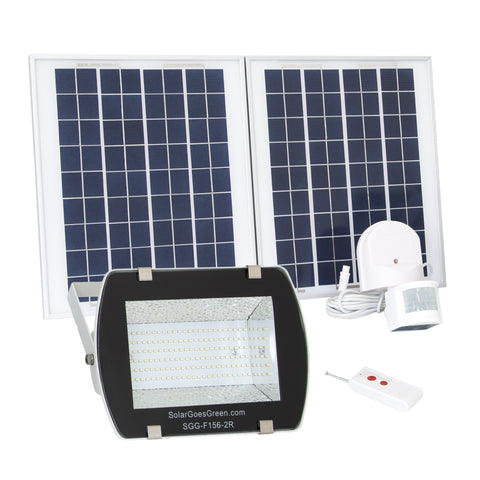 Solar Goes Green LED Solar Flood Light With Remote Control