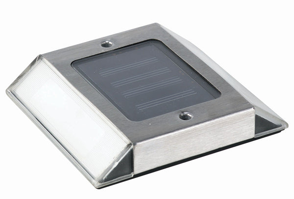 Stainless Steel Solar Powered Path Light For Outdoor Use 2 Count