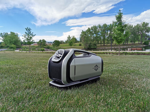 Zero Breeze Mark 2 Portable Air Conditioner at an outdoor park