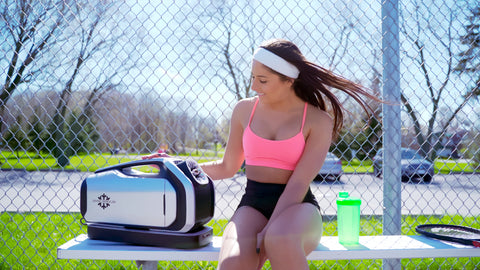 Zero Breeze Mark 2 Portable Air Conditioner during tennis break