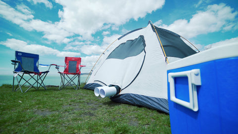 Zero Breeze Mark 2 Portable Air Conditioner outside the tent