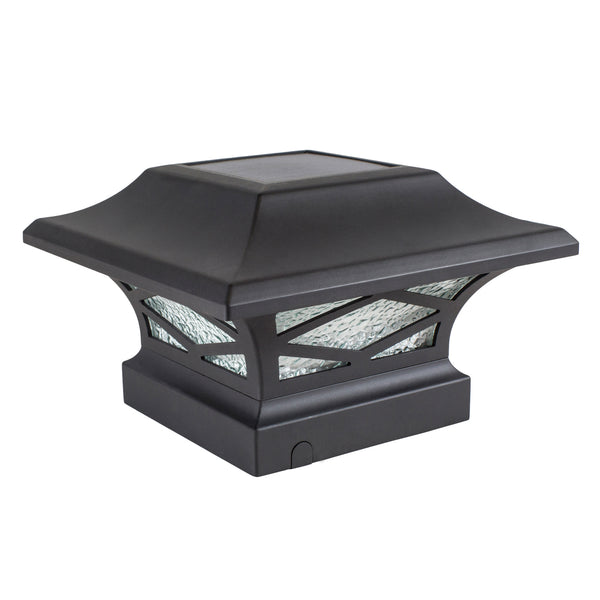 classy-caps-kingsbridge-dual-lighted-solar-post-cap-lights-black