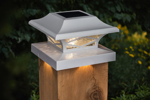 classy-caps-kingsbridge-dual-lighted-solar-post-cap-lights-white-installed-with-adapter