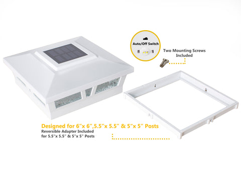 classy-caps-oxford-aluminum-6x6-solar-post-caps-2pack-white-accessories-adaptor