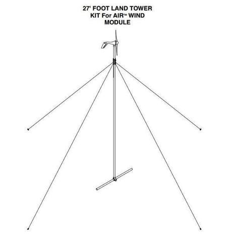 Primus Wind Power 27' Wind Turbine Tower Kit For AIR Wind Turbines