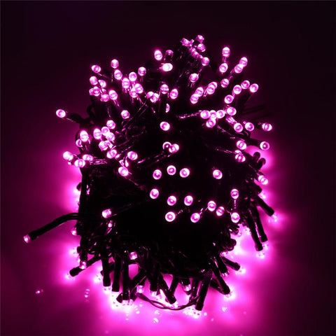 Pink Solar Powered Outdoor Christmas Lights