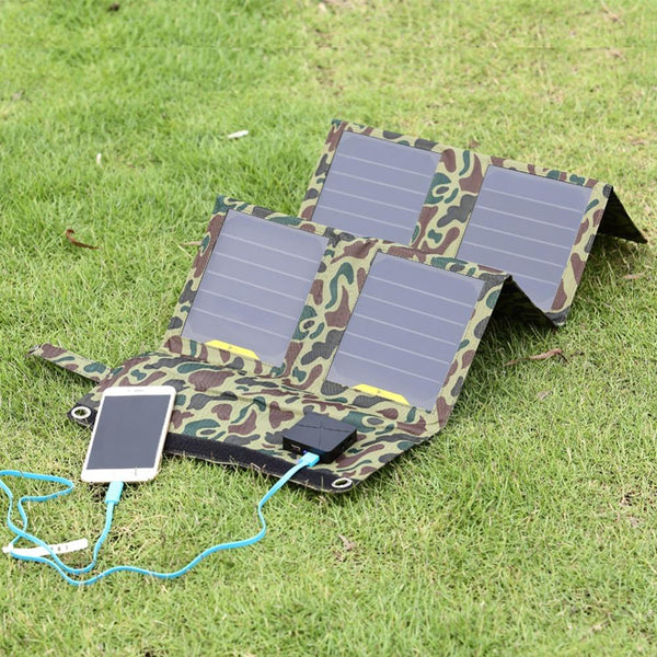 Camo Solar Powered Charger For Tablets Smart Phone Computer Battery and Electronic Devices