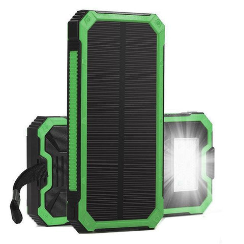 solar power pack for camping green portable device