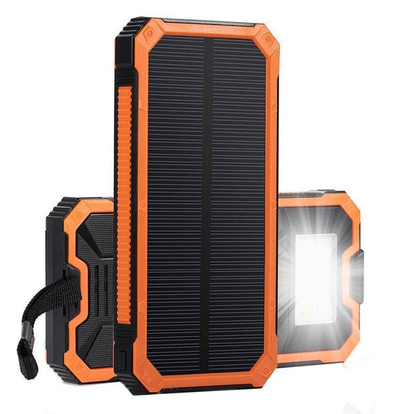 Orange solar Powered Charging Bank For Mobile Phones, Tablets, and Devices