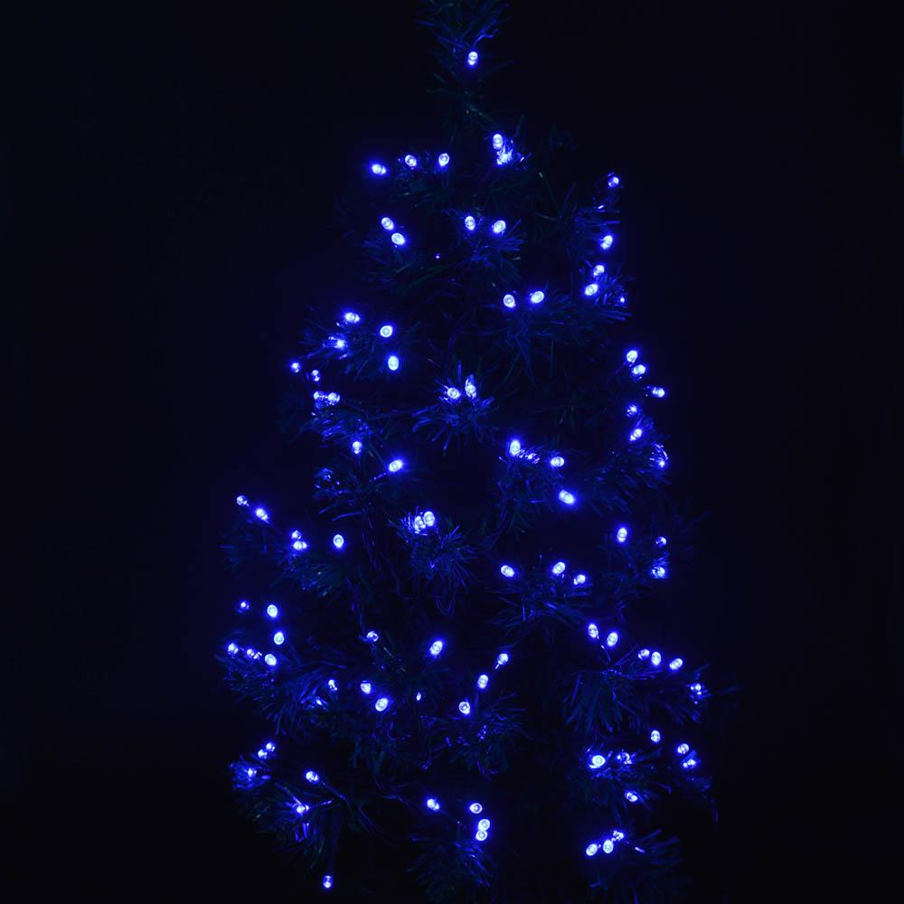 blue solar powered outdoor christmas holiday lights