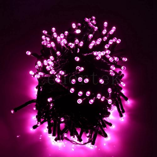 a980f430dd1b 39 Ft Solar Holiday String Lights 100 LED Available in Multiple Colors