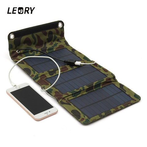 small camouflage solar power pack for camping no battery