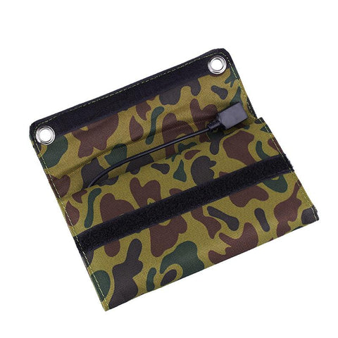 Folded Up Camouflage Solar Powered Charger