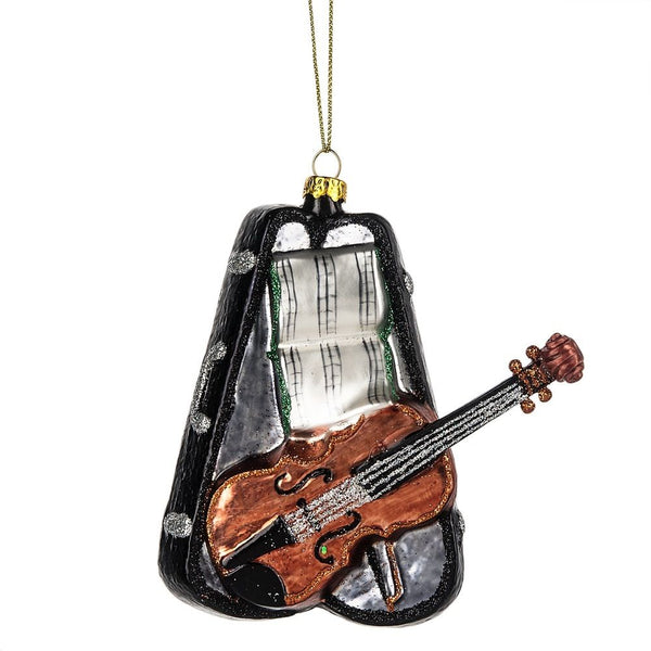 Music Violin with Case Glass Ornament by Midwest-CBK 122420