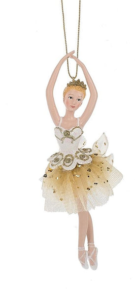 Ballet Blonde Ballerina Gold Tulle Tutu Ornament by Midwest-CBK132701 Blonde