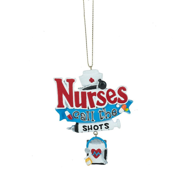 Nurses call the shots Ornament by Midwest-CBK  Resin  133180