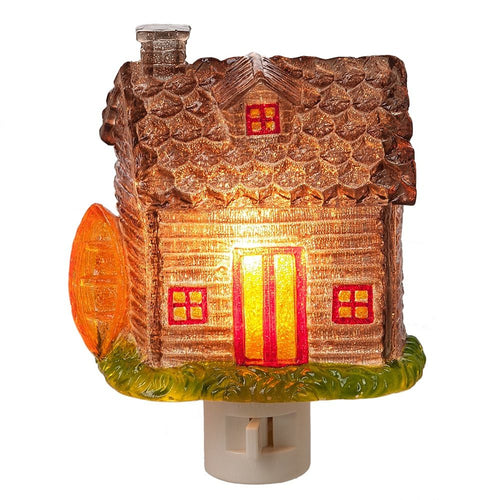 Night Light Log Cabin  Acrylic by Midwest-CBK 133840