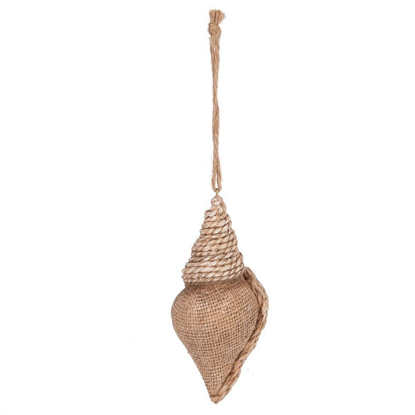 Beach Burlap Brown Shell Resin Ornament by Midwest-CBK 136186