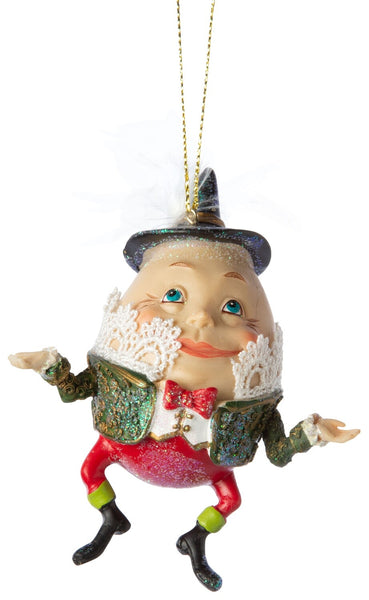 Silver Tree Humpty Dumpty Mother Goose Christmas Ornament