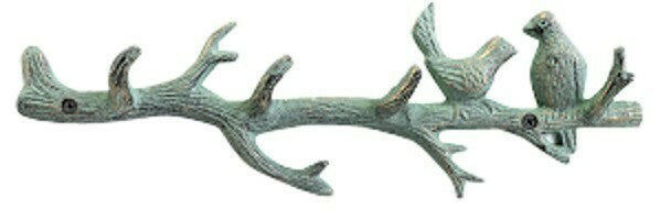 Verde Gre Birds on a Branch 4 Hook Wall Hook