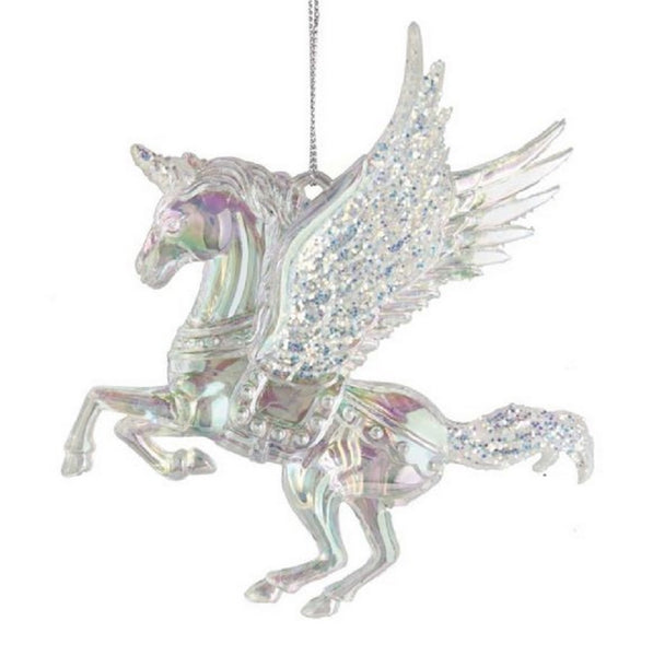 Iridescent Pegasus Unicorn With Wings Ornament