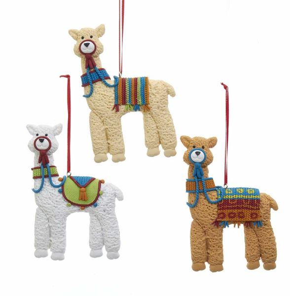 Kurt S Adler Set of 3 Llama Cookie Ornaments Assorted Colors