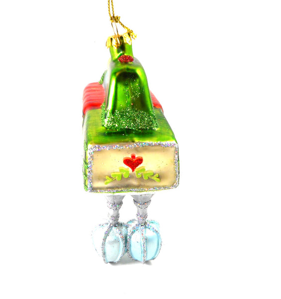Green Hand Mixer Kitchen Glass Ornament by Silver Tree